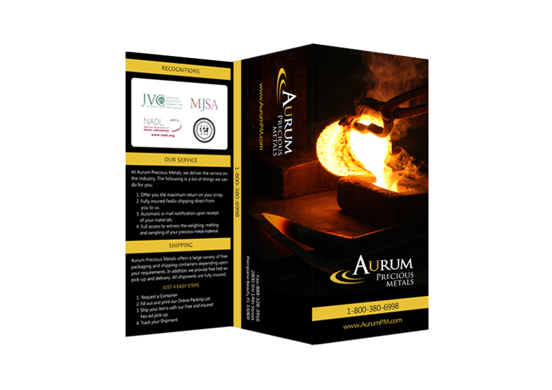Aurum Precious Metals | Promotional Design