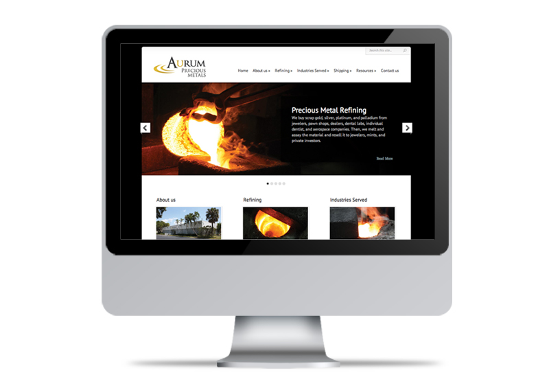 Aurum Precious Metals | Website Design & Development