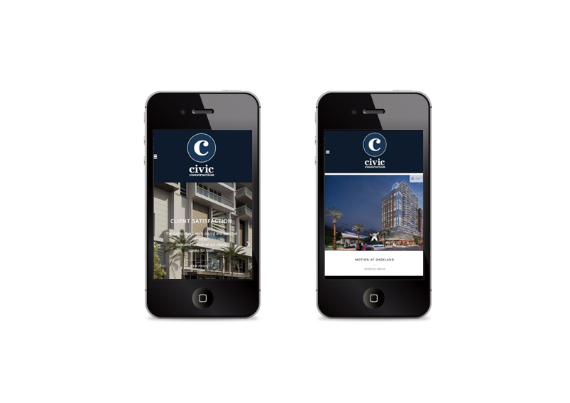 Civic Construction | Mobile Website